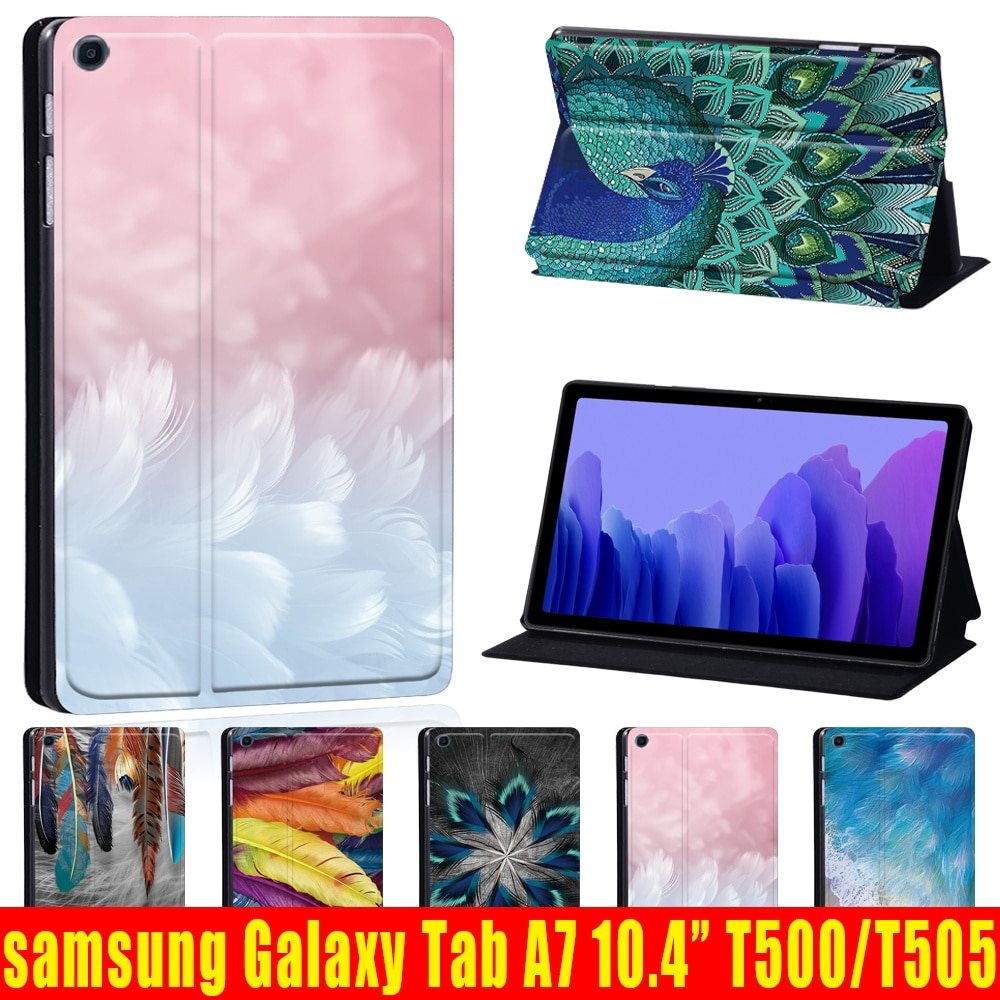 PU Leather Case for Samsung Galaxy Tab A7 10.4 Inch 2020 Stand Cover for Samsung Galaxy Tab A7 SM-T500 SM-T505 Tablet Case