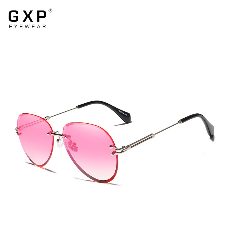 GXP Women luxury fashion rimless pilot New trending sunglasses gradient lens UV400 protection