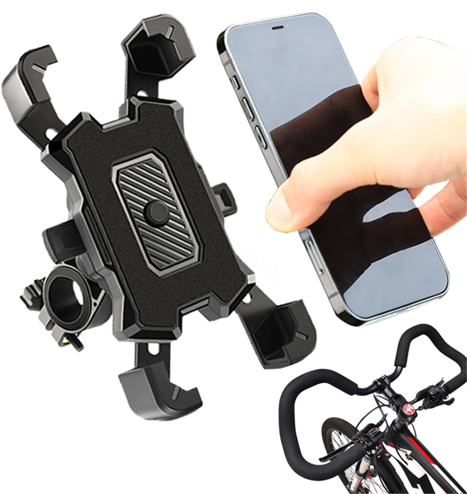 Bike Phone Holder Bicycle Mobile Cellphone Holder Easy Open Motorcycle Suport Mount For iPhone Samsu
