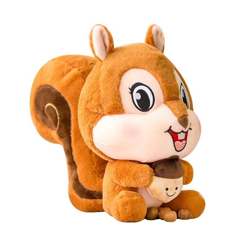 Pelúcia do esquilo vermelho dos desenhos animados, animal enchido da porca, brinquedo do luxuoso, presentes para crianças, hugems ems