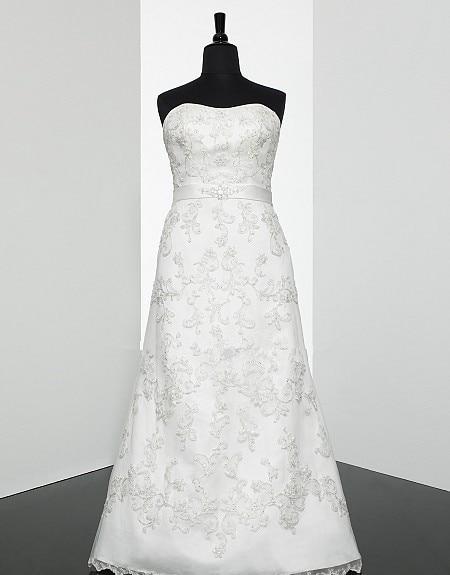 Модифицированный корсет без бретелек А-силуэта с открытой спиной, с вышивкой, реальное фото, кружевной пояс, сложные Искусственные Свадебны...