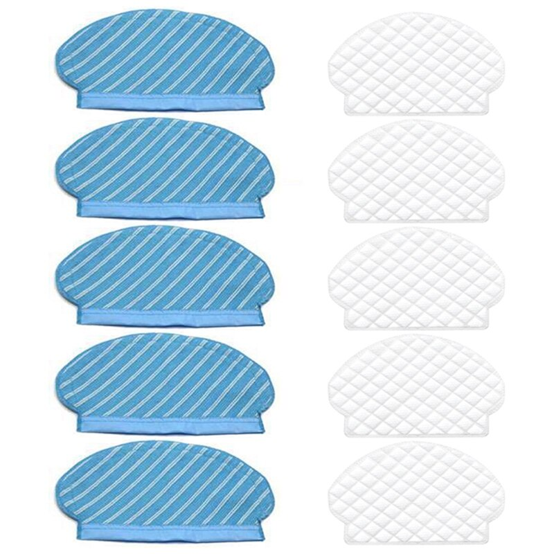 Mop Cloth Pads Disposable Rag Set for Ecovacs Deebot Ozmo 920 950 Vacuum Cleaner Parts Replacement Home Accessories 10Pc