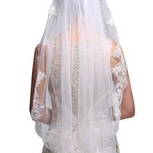 Velo de novia corto Blanco/Marfil, accesorios de boda, 2021