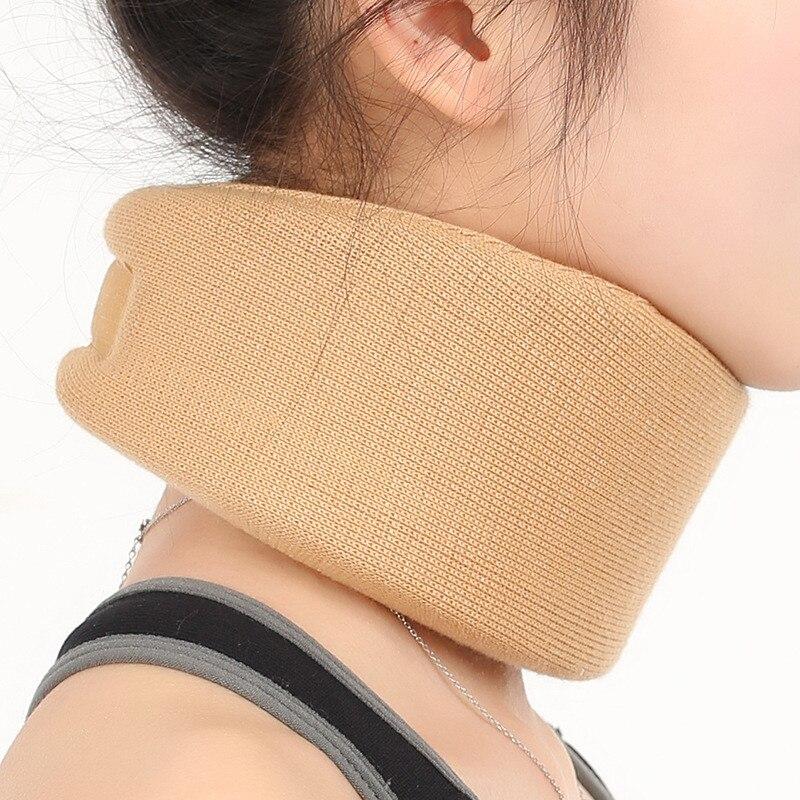 Espuma macia ajustável pescoço cinta apoio de tração cervical travesseiro pescoço terapia colar dor alívio pescoço maca postura cinta