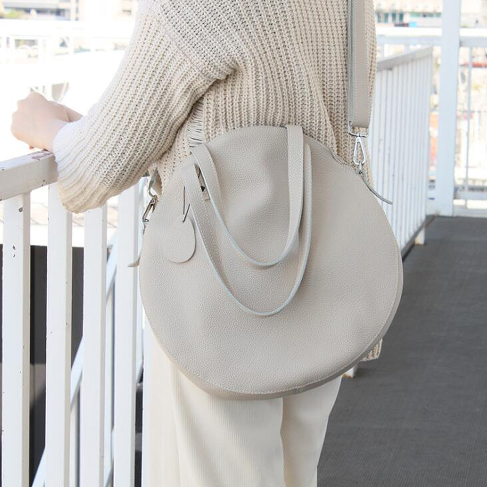 حار كبير دائري جلد البقر حقيبة كتف جلد طبيعي المرأة حقائب ساعي مموهة السيدات محفظة الإناث جولة بولسا حقيبة يد