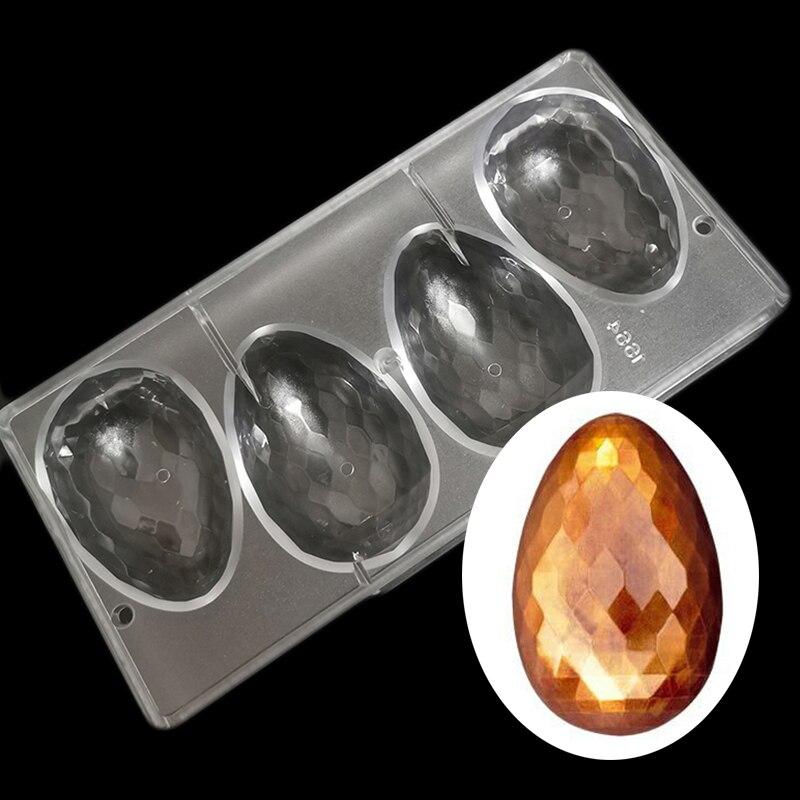 Molde en forma de huevo de Pascua con forma de huevo de diamante, molde para dulces o Chocolate, molde de policarbonato con forma de huevo de diamante para dulces