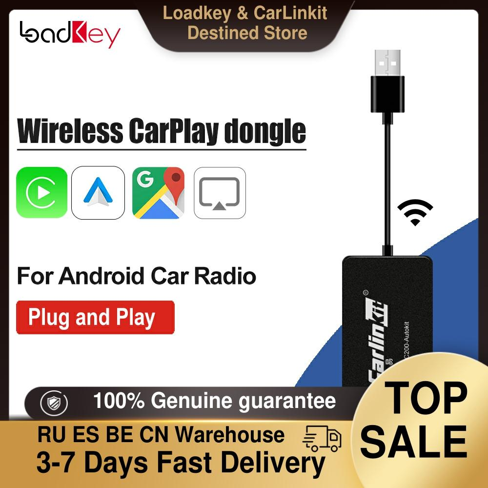 Loadkey و Carlinkit اللاسلكية ل أبل CarPlay أندرويد السيارات دونغل ل راديو أندرويد الملاحة سيارة اللعب USB صغير Carplay عصا