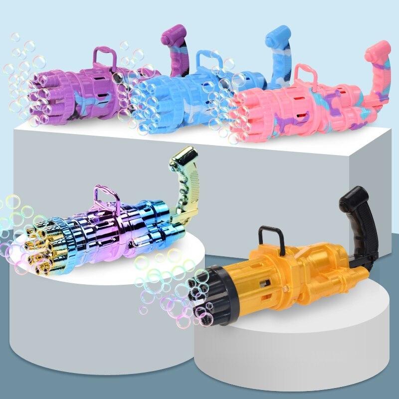 pistola de bolha automatica para criancas brinquedo eletrico de verao ao ar livre