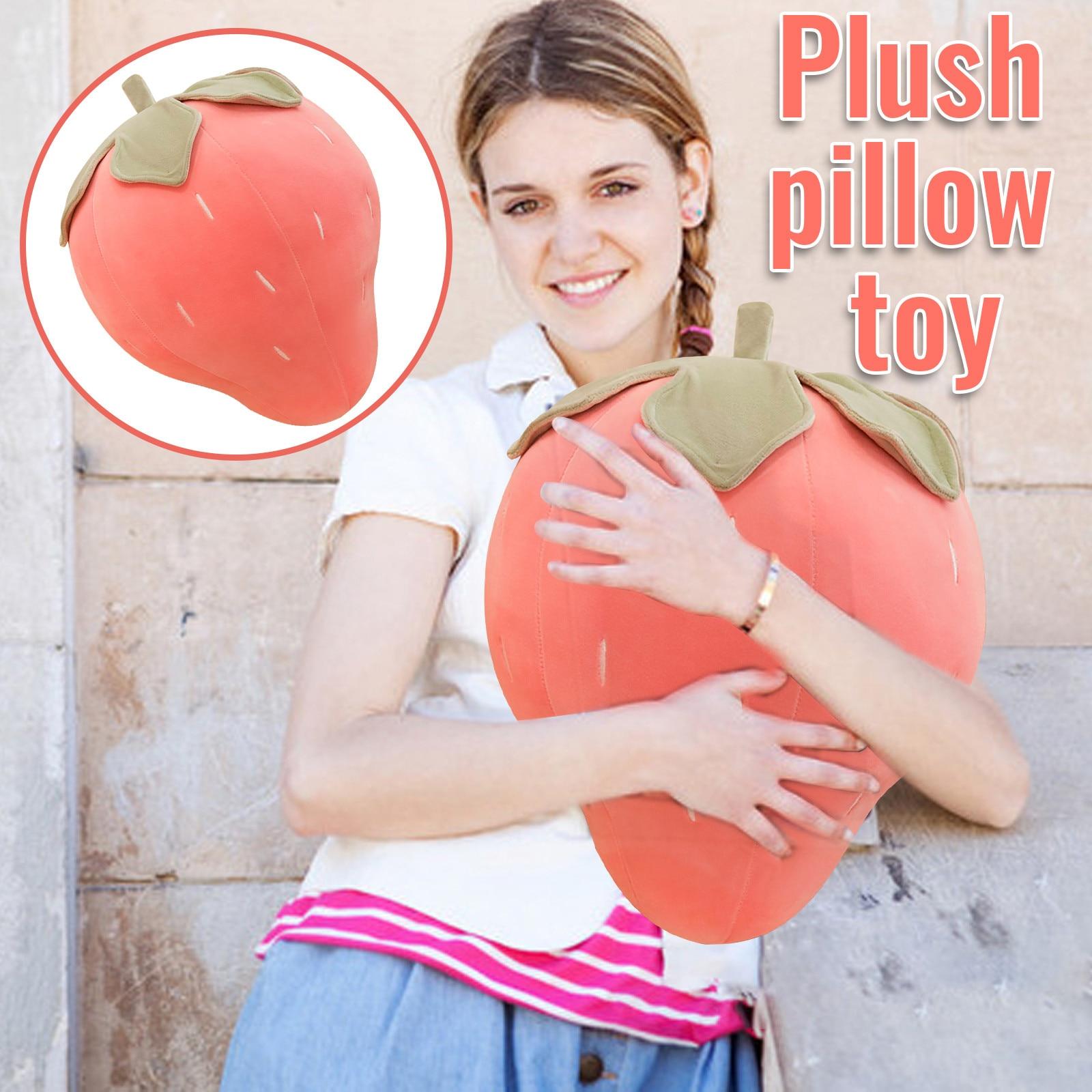 Plush Toys Pink Strawberry Cute Animal Doll Plush Stuffed Animal Plush Toy Fashion Gifts For Kids Ba