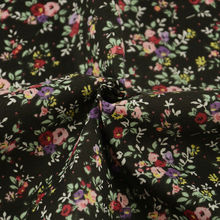 Tissu à coudre Textile à la maison noir 100% coton tissu uni Patchwork Scrapbooking jolies fleurs Design décoration gros quart CM