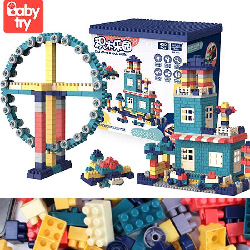 2021 креативный «сделай сам» большой ящик для хранения кубиков, игрушки, пластиковый дом, Строительные кирпичи, детские игрушки для детей, обр...