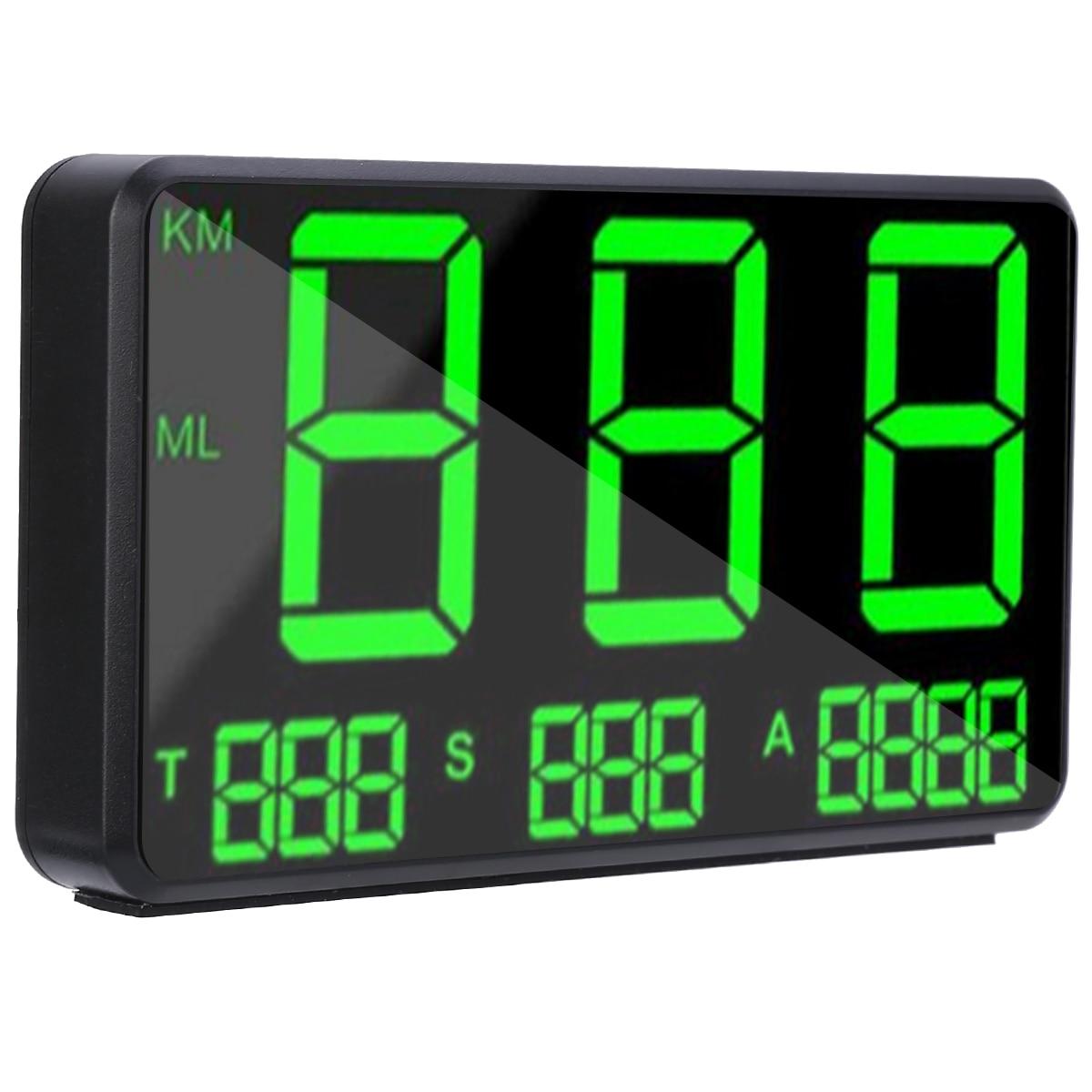 C80, velocímetro GPS para coche, pantalla LED de grandes fuentes, KM/h MPH, alarma de velocidad, altitud, tiempo de conducción Digital Total para piezas electrónicas de coche