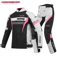 motorcycle jacket men women set moto protection windproof waterproof motorbike riding moto jacket pants suit body armor