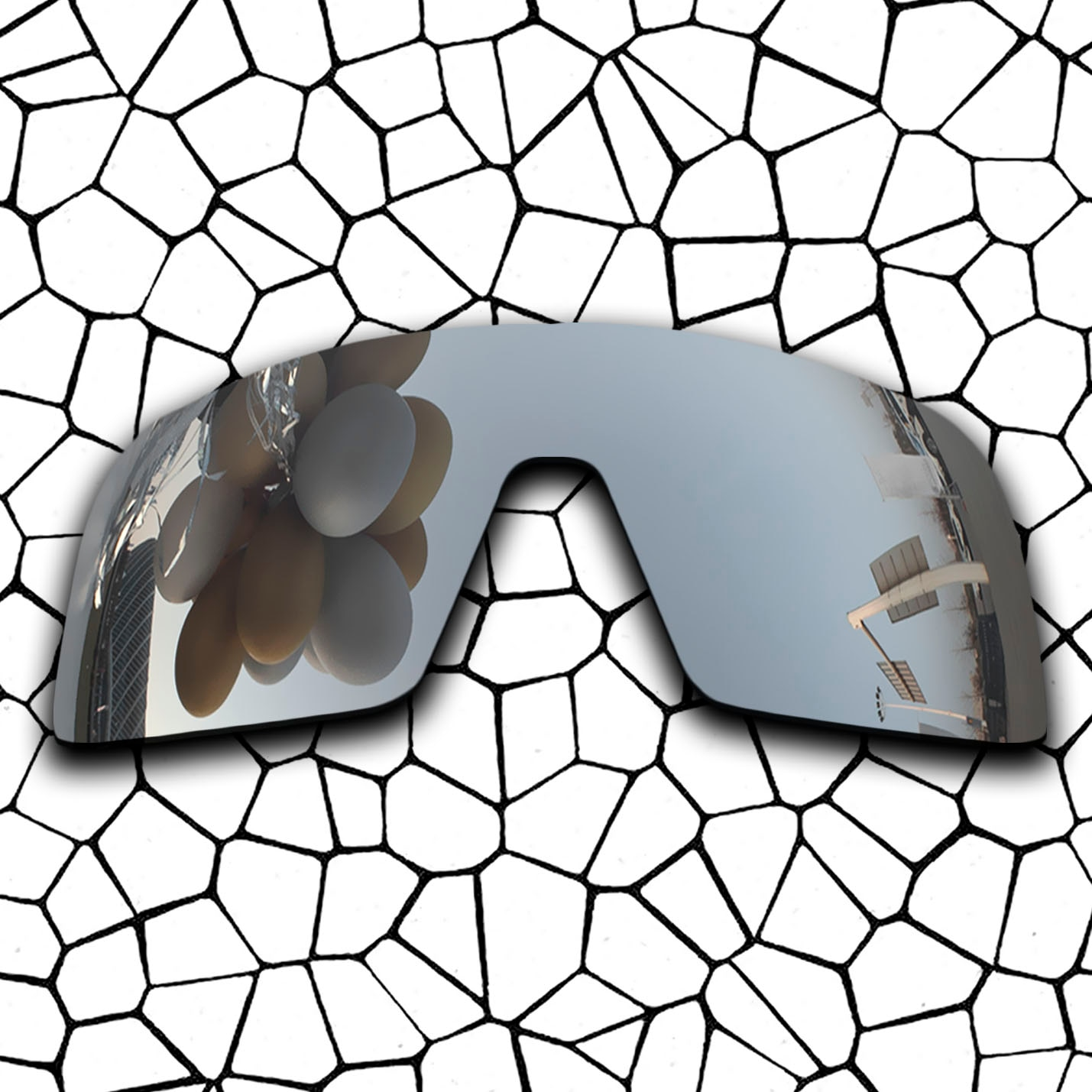 Polarized Replacement Lense For-Oakley Sutro Sunglasses Frame True Color Mirrored Coating - Chrome Color Options