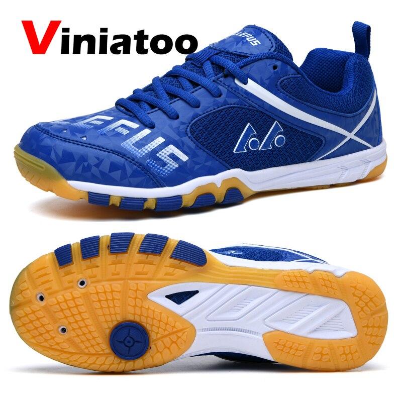 Nuevos zapatos profesionales de bádminton para hombres, luz blanca o azul, zapatos de entrenamiento para tenis, zapatillas de voleibol de calidad antideslizantes para hombres