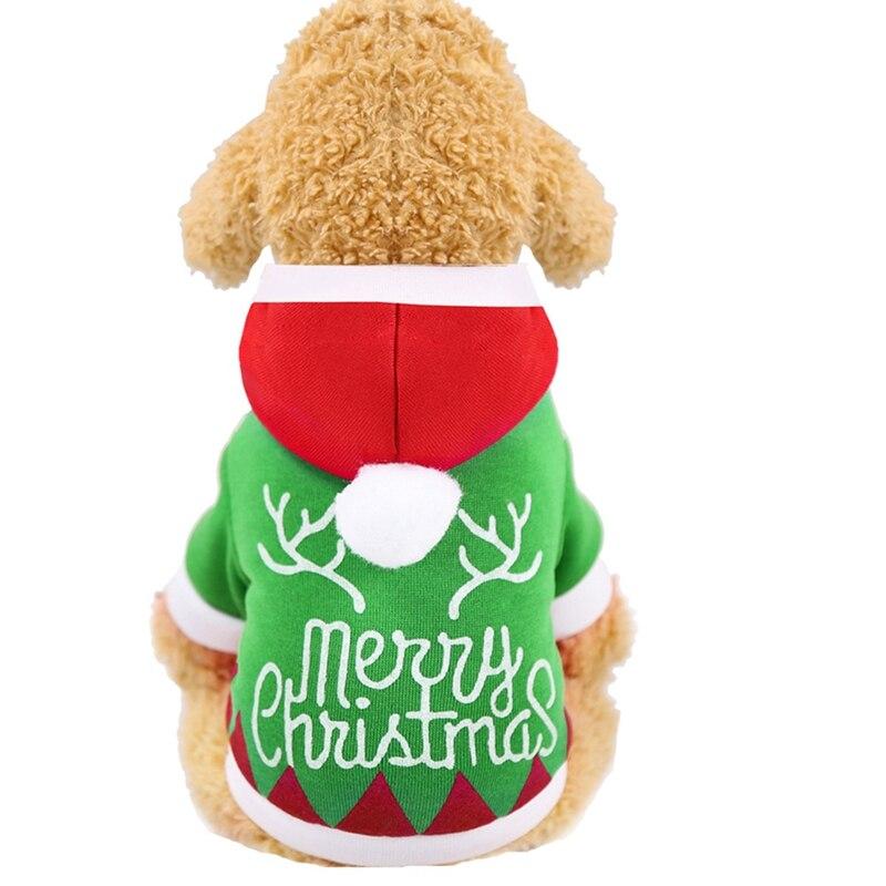 Navidad perro ropa para mascotas cachorro cartas estampado gatito chaqueta caliente para Chihuahua Yorkshire osito de peluche perro ropa para mascotas traje