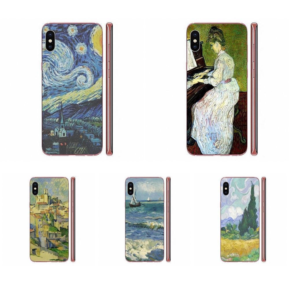 Funda de accesorios de teléfono brócoli para HTC U11 Life Capa U11 Plus U 11 U12 Life Vincent Van Gogh cielo estrellado pintura al óleo