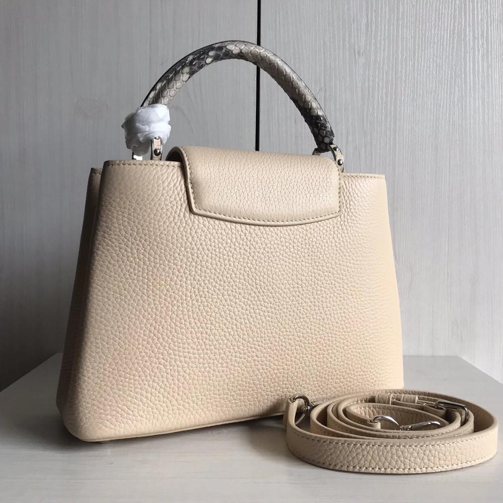 2019 حقيبة يد فاخرة حقائب نسائية مصمم جلد طبيعي أنثى أوروبا العلامة التجارية ذات جودة عالية