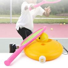 Jeu dentraînement de Tennis pour enfants outil de Tennis de rebond autonome avec entraîneur de balle élastique dispositif daide à la corde Sparring I8P6