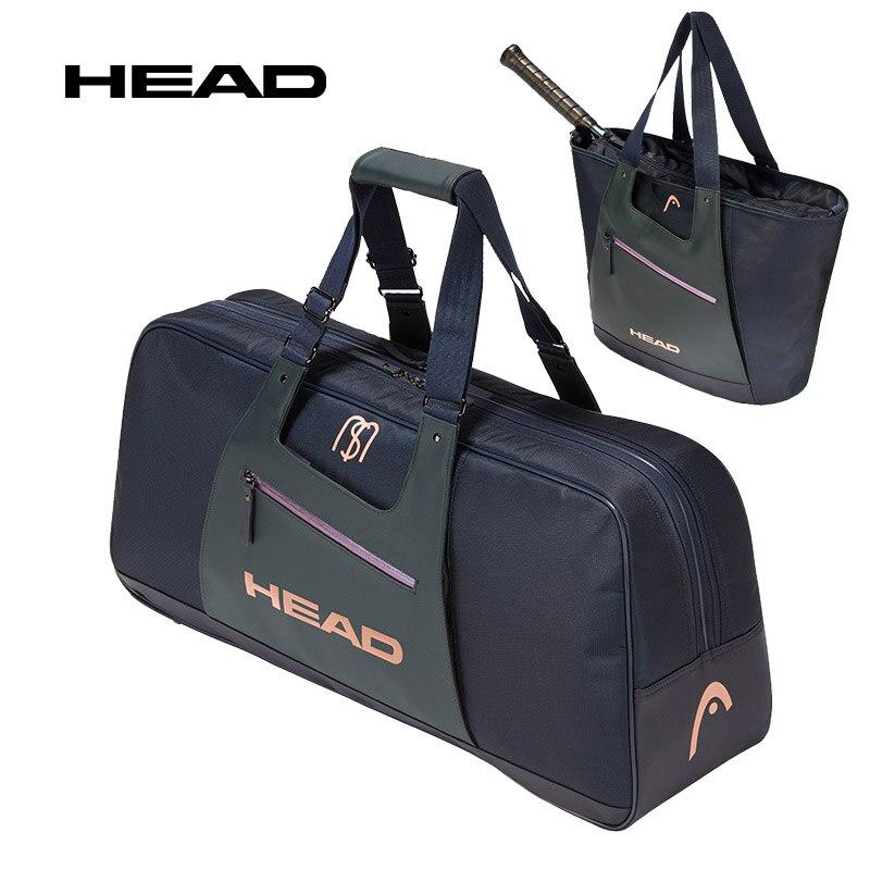 Высококачественная теннисная сумка Sharapova одинакового типа, большая вместительность, 6 ракеток для бадминтона для тенниса, сквош, женская сп...