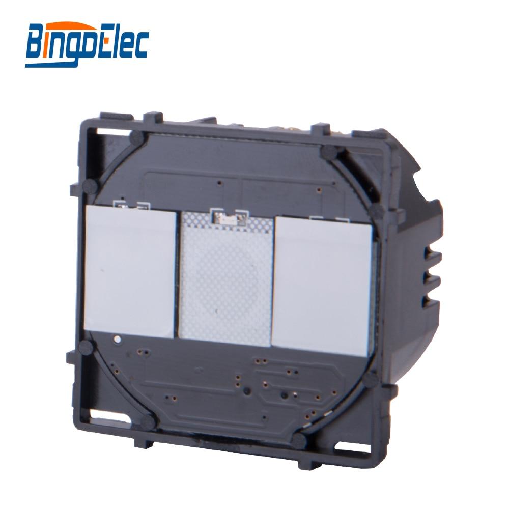 Bingoelec 2 Gang 1 Way Touch Electeic Switch Function Part, No Glass Panel ,EU/UK Standard ,Hot sale