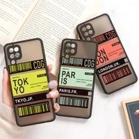 a32 case for samsung a52 a51 a71 a72 a31 a21s a12 a50 a70 a30 a20 a42 a11 a10s m31 a01 core covers luxury hard matte phone funda