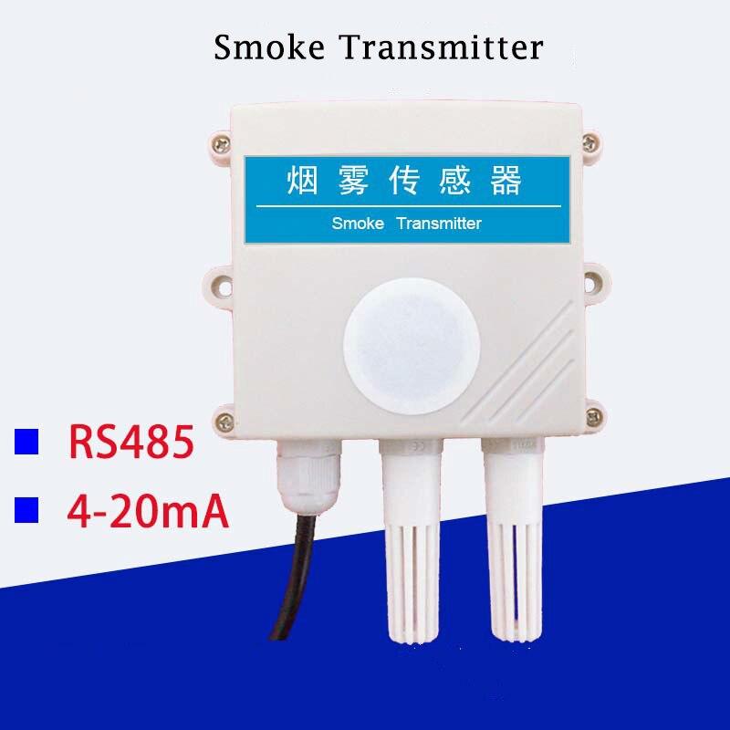 Detector de alarma de transmisión de Sensor de humo 4-20mA salida analógica RS485 con temperatura y humedad