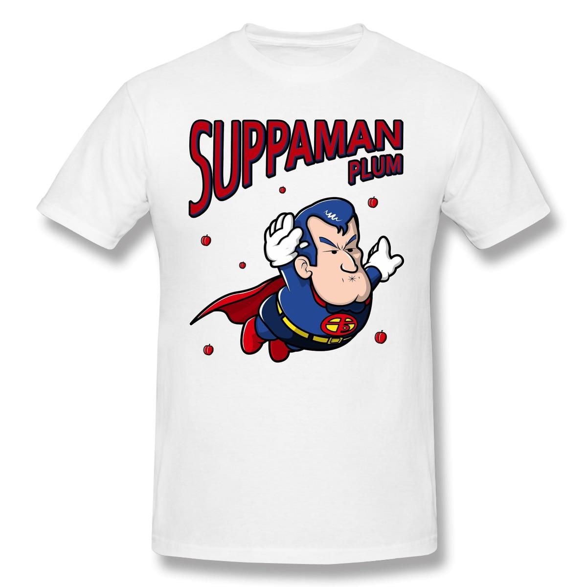 Camisetas de algodón de Dr. Slump para hombre suppran Plum Relaxed Fit Funny Crewneck