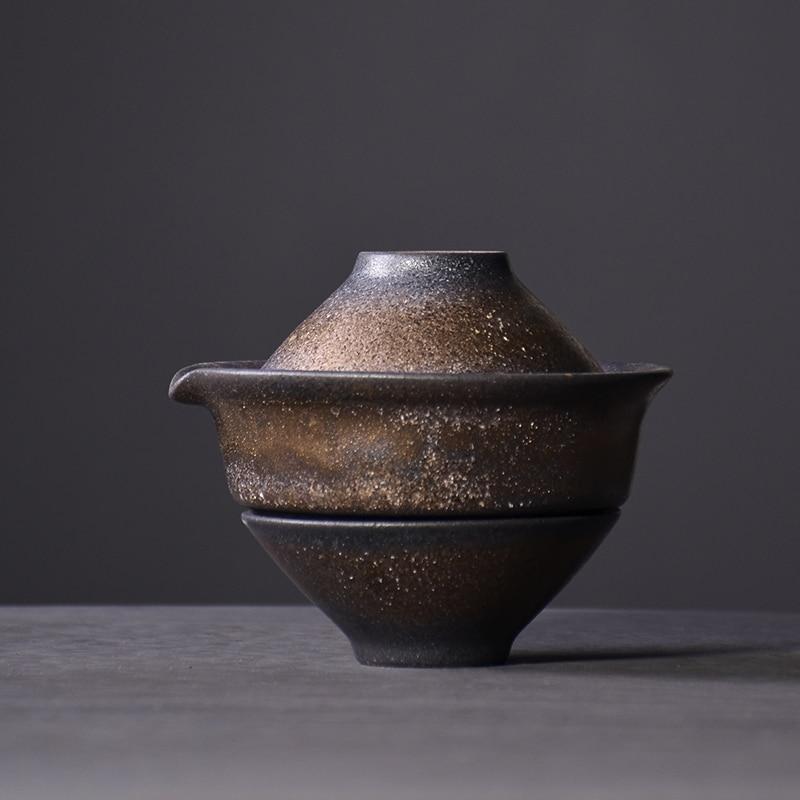 TANGPIN اليابان السيراميك أقداح الشاي مع 2 الكؤوس المحمولة السفر أطقم شاي drinkware