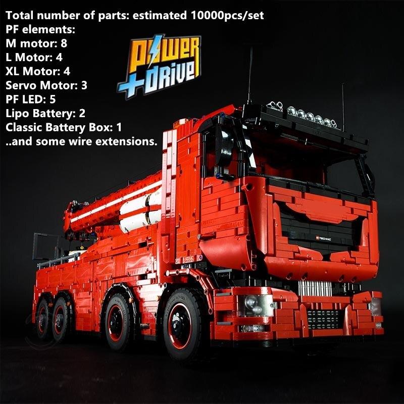Новый MOC RC Мотор силовой функции, буксировочный грузовик MKII Fit legglys Technic, MOC-29848, наборы, строительные блоки, кирпичи, игрушка для творчества, 2019