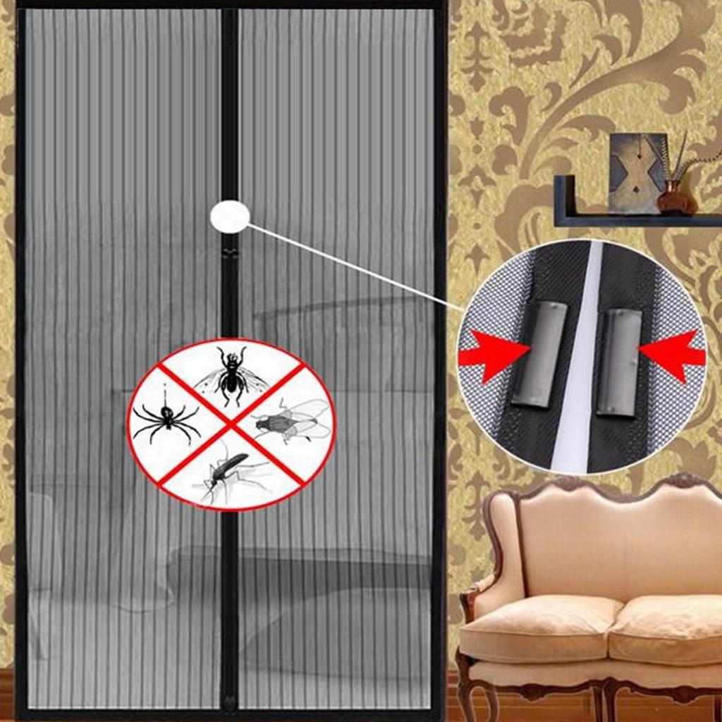 Homehold verano cierre automático Anti Mosquito cortina mosquitera cortina imanes puerta malla Anti insectos arena Red