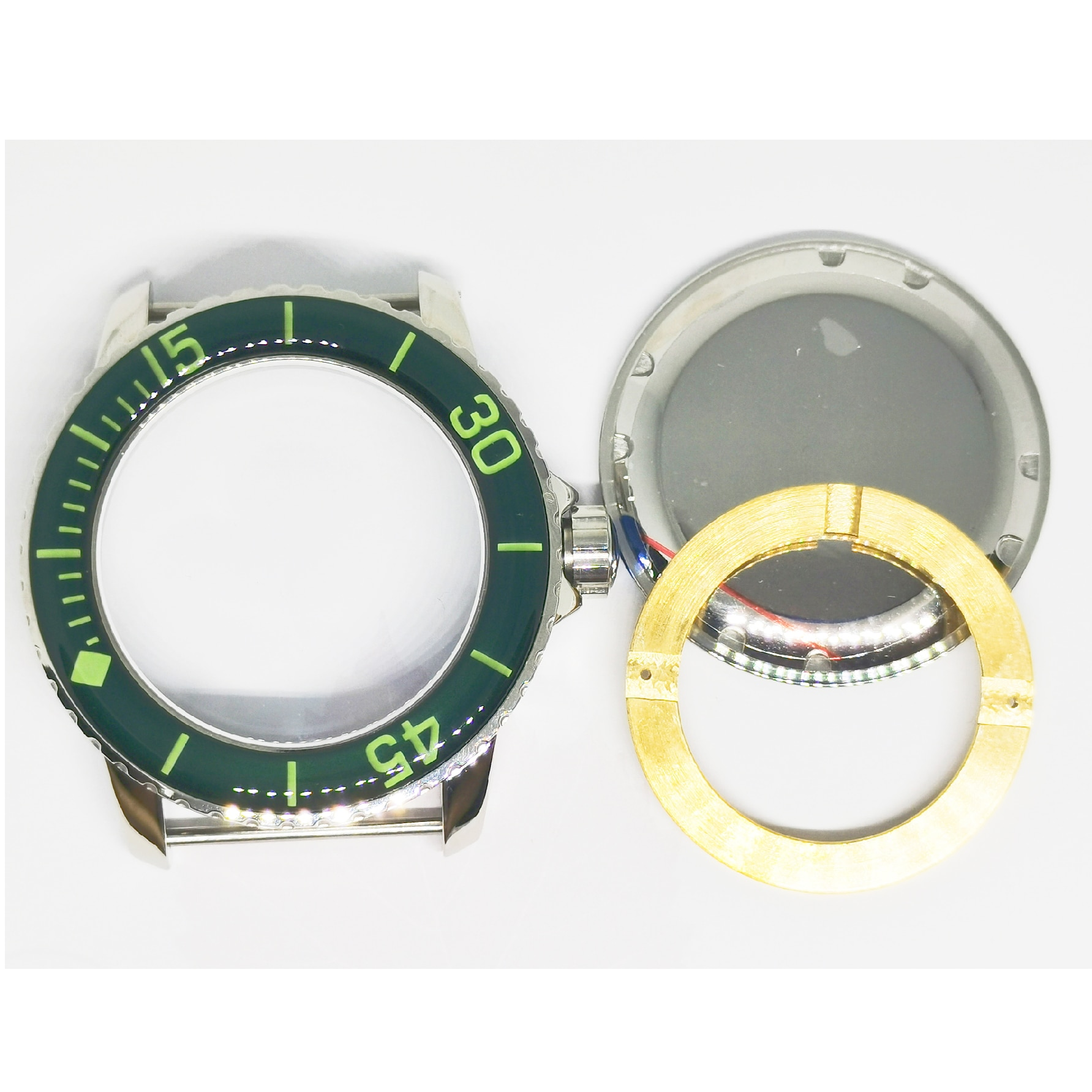 New 45MM Watch Part 316 Stainless Steel Case Add Luminous Dial And Hands Fit ETA 2836/2824 ST2130 Miyota 8215 Automatic Movement enlarge