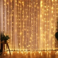 3x13x23x36x3m led icicle curtain string lights xmas party christmas fairy string light for holiday wedding garden decoration