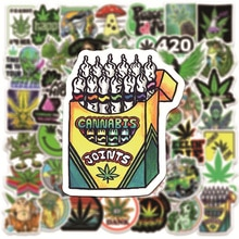 10/30/50PCS New Leaves Weed Smoking Cool Stickers Waterproof notebook Luggage Suitcase Graffiti DIY Sticker kid toy