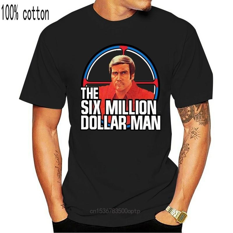 New The Six Million Dollar Man T Shirt Steve Austin 70s retro Unisex T Shirt 49 Style Round Style tshirt Tees hoodie hip hop t-s