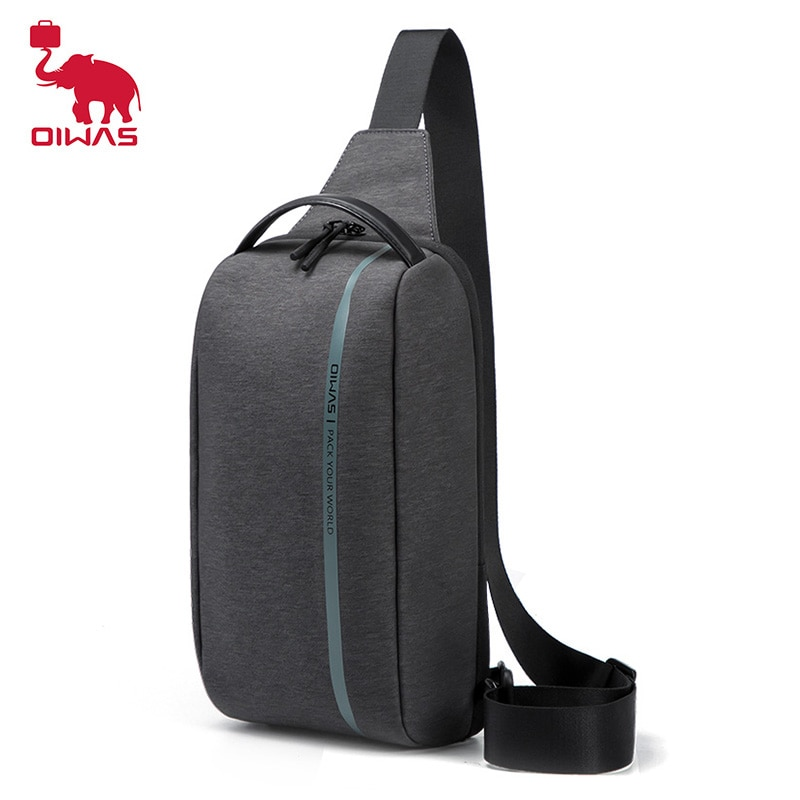 OIWAS Fashion Men Chest Bag Waterproof Short Trip Shoulder Chest Pack Male Waterproof Sling Messenger Bags Mens Crossbody Bag