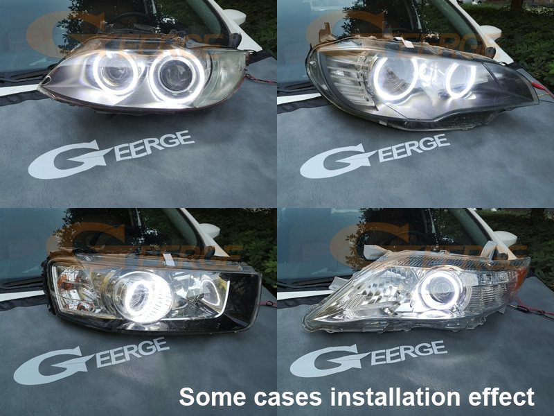 Купить с кэшбэком For BMW 3 Series E90 E91 E92 E93 M3 Coupe cabriolet xenon HD Ultra bright SMD LED Angel Eyes halo rings Day Light Car styling