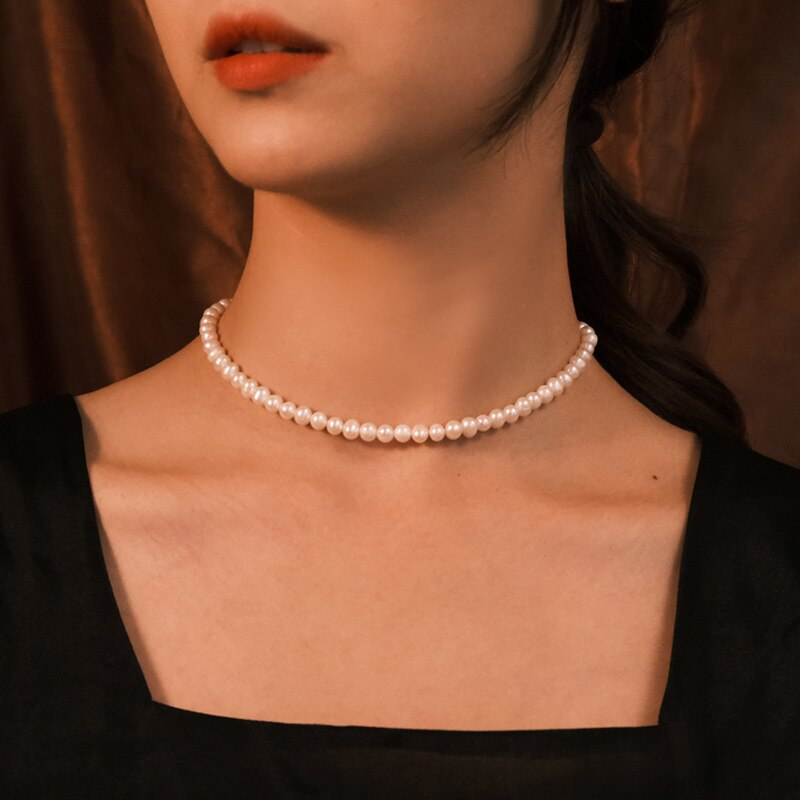 Vintage Bohemian Pearl Chain Choker necklace Elegant collar For Women Choker Collar aesthetic Neck Chain Women Fashion Jewelry