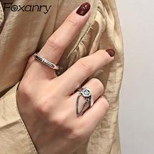 Foxanry 925 en argent Sterling à la mode anneaux pour femmes Vintage créatif à la main ceinture gland chaîne Thai argent fête bijoux cadeaux