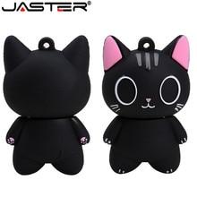 JASTER mini gato USB 2,0 negro venta al por mayor de gato de dibujos animados disco de U 1 GB 2GB 4GB 8GB 16GB 32GB 64GB USB 2,0 de alta velocidad flash drive