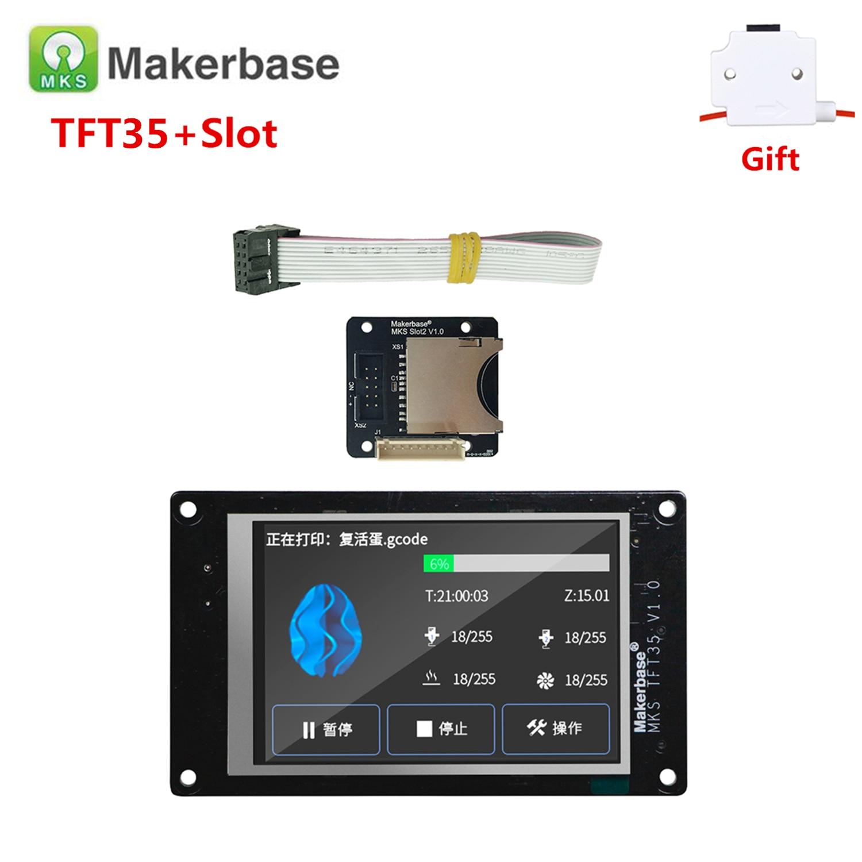 3d printer display supplies MKS TFT35 V1.0 touch screen TFT 3.5 + MKS Slot2 expansion SD card reader 3.5 inch LCD for SKR V1.3