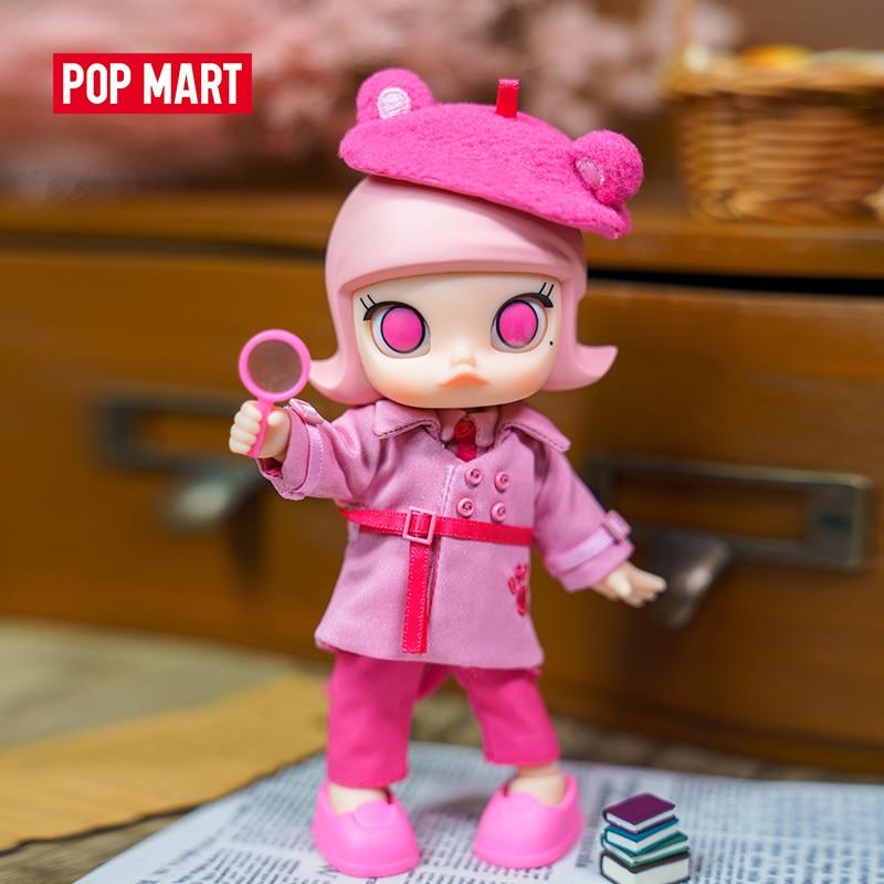 POP MART Молли X Розовая пантера шарнирная кукла бинарная фигурка подарок на день рождения Детская игрушка бесплатная доставка