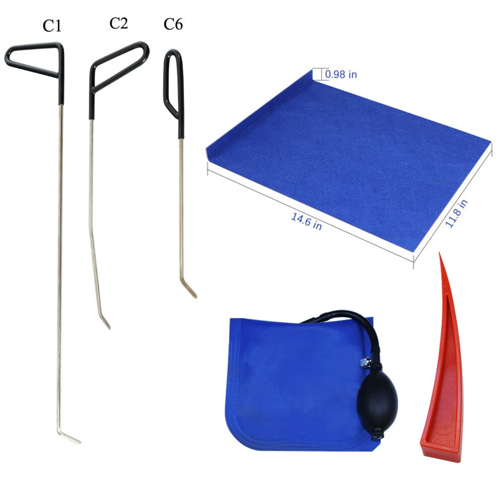 3pcs Hook Rods Paintless Dent Repair Tools Car window protector Window guard Dent removal tools car pump wedge set kit