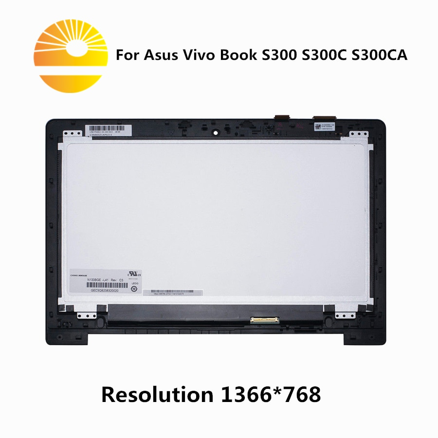 "13,3 ""para Asus Vivo libro S300 S300C S300CA LCD de montaje de pantalla táctil 1366*768 HD"
