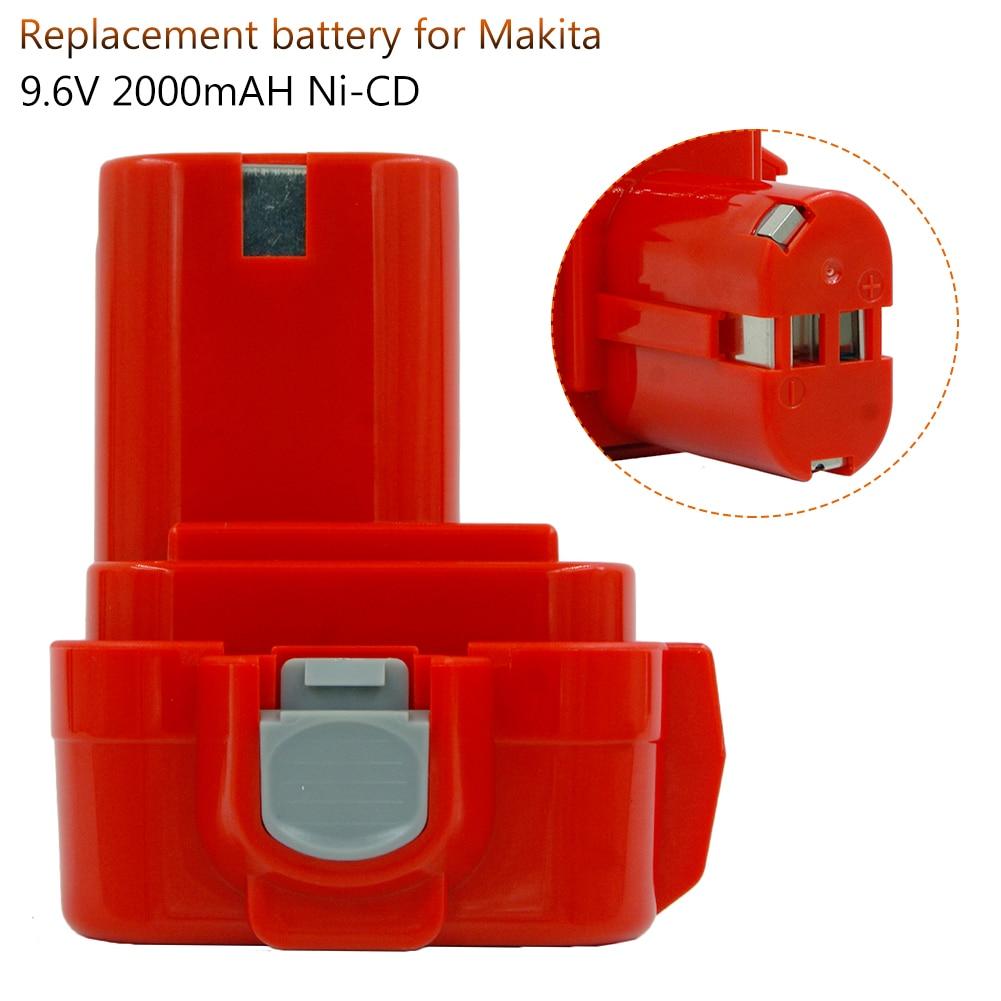 PA09 9,6 V 2000mAh Ni CD batería de repuesto para la batería Makita 9100 9101A 91019120 9122 6207D 6261D 192595-8 192596-6 destornillador Bateria