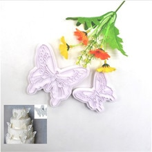 Moule plastique en forme de papillon   De qualité alimentaire, moule à gâteau Fondant de décoration à cookies, découpeur à biscuits, bricolage moules de cuisson, outils de pâtisserie 2 pièces/ensemble