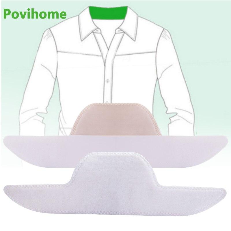 1/10/20/30 Uds blanco Anti-sucio adhesivo para sudor camisa desechables almohadillas para el sudor traje Unisex cuello de Anti-sudor palo C1770