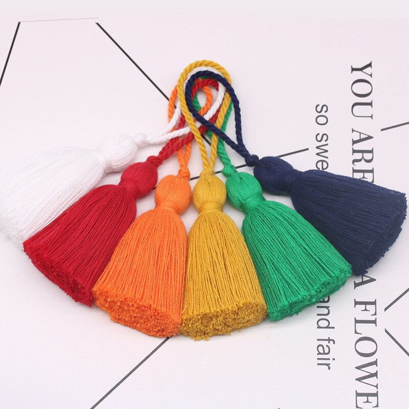 Gordura borlas tecido de algodão franja cortina para casa saco de vestuário acessórios decorativos artesanal diy artesanato grande borla guarnição 5 pçs/lote