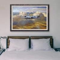 T077     peinture classique retro 53 operations de vol davion de guerre  affiche en soie personnalisee  decoration murale  cadeau de noel