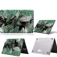 green feather and leaf anti slip laptop case for matebook 1313 amd ryzen14d14d15x 2020x propro 16 1honor magicbook1415
